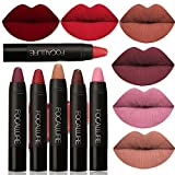 FOCALLURE 6pcs Matte Lipstick Lip Gloss Set Liquid Lip Color Waterproof Matte Liquid Lipstick