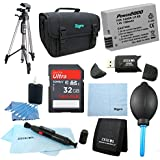 LP-E8 Battery 10 pc Kit 32gb SD Card & Reader 60 Tripod Deluxe Case, Lens Cleaning Kit & Pen, Professional Blower, Memory Card Wallet, Micro Fiber Cloth Canon Rebel T5i T3i T4i T2i