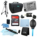 LP-E8 Battery 10 pc Kit 32gb SD Card & Reader 60'' Tripod Deluxe Case, Lens Cleaning Kit & Pen, Professional Blower, Memory Card Wallet, Micro Fiber Cloth Canon Rebel T5i T3i T4i T2i