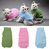 Solid ColorName Pet Dog Cat Knitted Breathable Warm Sweater Winter Outwear