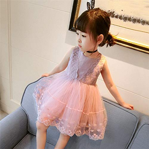 Culturemart Girls Summer Dress Brand Backless Teenage Party Unicorn Princess Dress Children Costume for Kids Clothes Pink 2-6T for $<!--$36.56-->