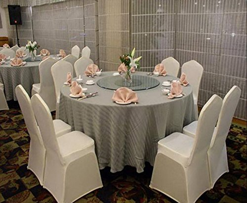 Anfan Universal 100pcs White Chair Covers Spandex/Slipcovers For Wedding, Party, Banquet(Set Of 100)