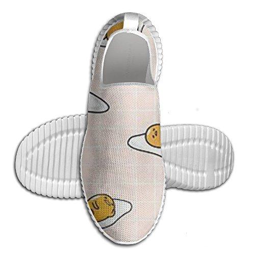 Lard Et Oeufs Cool Chaussures De Course Art Unisexe Larges Mocassins De Course Pour Les Garçons Blanc