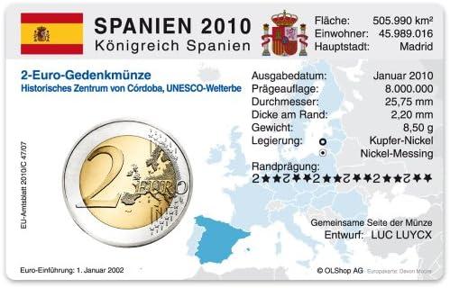 Tarjeta de monedas para de 2 euros letona de España 2010 – Ciudad Antigua de Córdoba: Amazon.es: Oficina y papelería