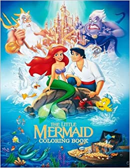 Amazon.com: The Little Mermaid Coloring Book: Coloring Book ...