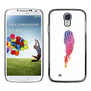 Paccase / Hard Protective Case Cover for - Stencil Colors Minimalist White - Samsung Galaxy S4 I9500