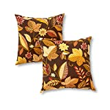 Greendale Home Fashions OC4803S2-TIMBFLORAL Indoor/Outdoor Accent Pillows, Timberland Floral, Set of 2