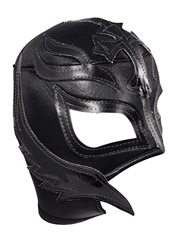 ucha Libre Wrestling Mask (pro-fit) Costume Wear - Black (Rey Mysterio Wrestling Mask)