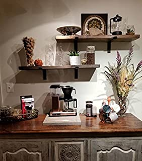 Brilliant Amazon Com Floating Wall Shelves Made From Real Rustic Interior Design Ideas Ghosoteloinfo