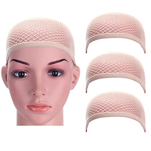 Dreamlover 3 Pack Upgraded Wig Caps with THICK Nylon Thread, Durable Wig Cap with Close Dome (Natural - Quality Women Nude