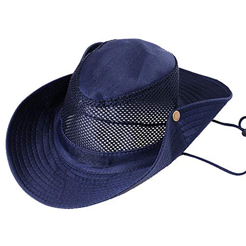 Angoo Fishing Sun Boonie Hat Waterproof Summer UV Protection Safari Cap Outdoor Hunting Hat (Blue)