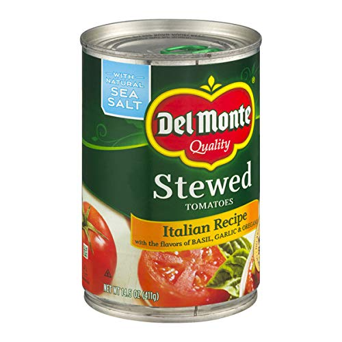 (Del Monte Stewed Tomatoes Italian Recipe, 14.5-Ounce (Pack of)