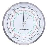 Control Company 4199: barómetro de precisión con esfera de rastreo, níquel-cromo