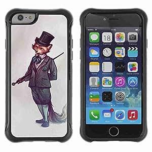 "A-type Arte & diseño Anti-Slip Shockproof TPU Fundas Cover Cubre Case para 4.7"" iPhone 6 ( Sophisticated Fox )"
