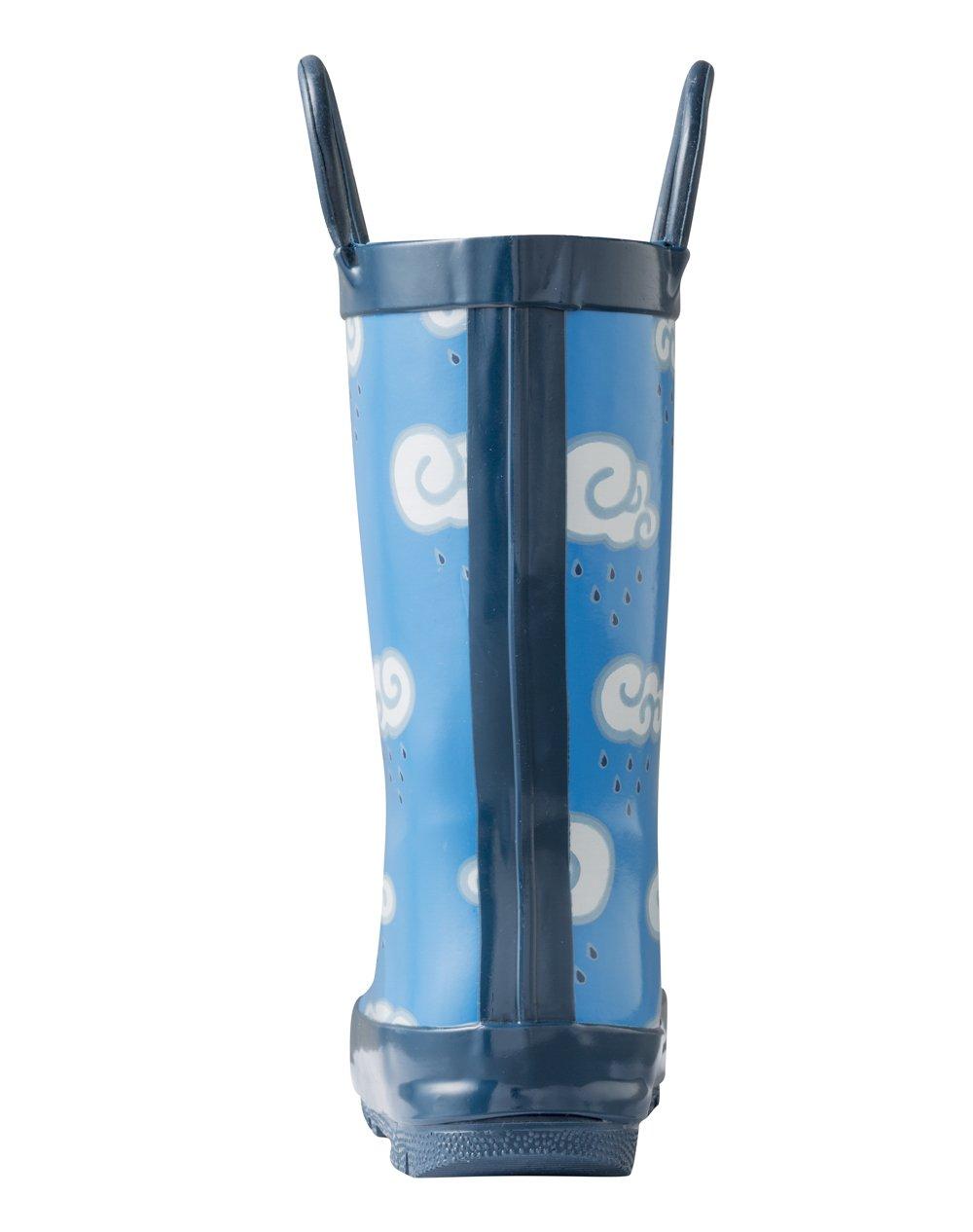 Oakiwear Kids Rubber Rain Boots with Easy-On Handles, Clouds, 9T US Toddler by Oakiwear (Image #5)