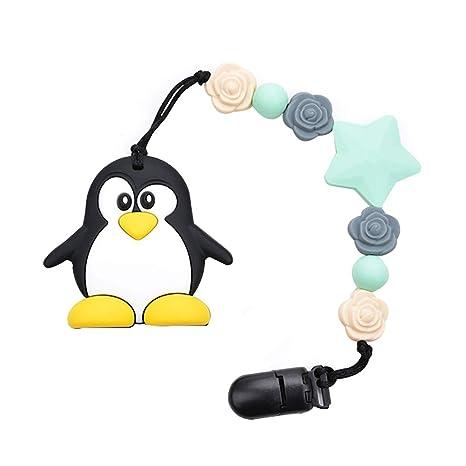 1Buy Pingüino en Forma de Silicona Chupete Clip Chupete ...