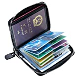 Best Book Wallets With Card Slots - Aladin RFID Blocking Double Passport Holder & 40 Review