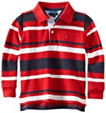 Tommy Hilfiger Little Boys' Long Sleeve Todd Stripe Polo Shirt