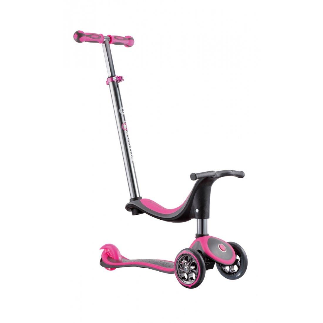 El patinete Globber MY FREE, 4 en 1, color Gris y rosa ...
