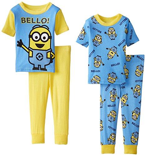Despicable Me Little Boys' Bello Minions 4 Piece Pajama Set,
