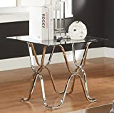 Cheap Furniture of America Mirella Contemporary End Table, Chrome
