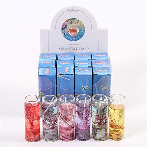 Velas de gelatina Sin Humo Conchas oceánicas Velas de gelatina Conjuntos para Navidad Regalos de San Valentín Jalea Cera Gel de Boda Velas: Amazon.es: Hogar