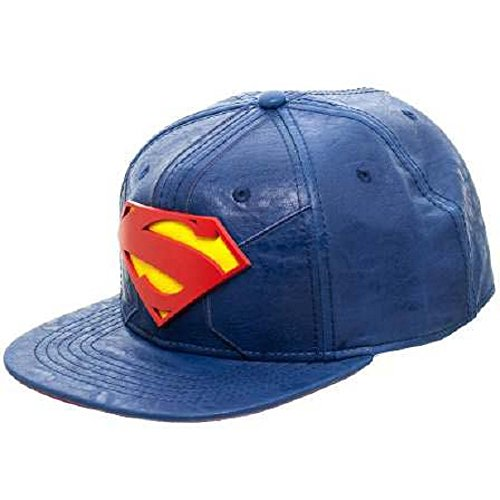 30729ce9fc2b90 DC Comics Superman Suit Up Blue Snapback Baseball Cap - Import It All