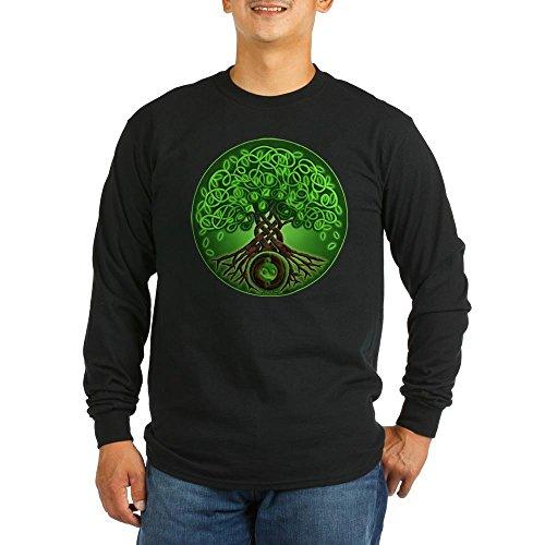 CafePress - Circle Celtic Tree of Life Long Sleeve Dark T-Shir - Unisex Cotton Long Sleeve T-Shirt (Celtic Circle Life)