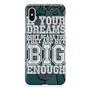Loud Universe Sully Quote iPhone XS Max Case monsters Inc iPhone XS Max Cover with 3d Wrap around Edges