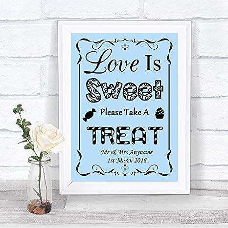Amazon.com: Cartel de boda personalizable con texto en ...
