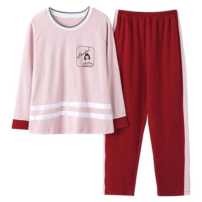 Mmllse Conjuntos De Pijama De Moda Pijamas De Las Mujeres Rayas De Vestir Los Deportes De Sueño Los Caracteres De La Impresión De La Ropa De Dormir Homewear ...