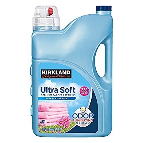 Kirkland Signature Ultra Soft Premium Liquid Fabric Softener: Odor Eliminating Refreshing Scent - 187 fl. oz (220 (Ultra Soft Fabric)
