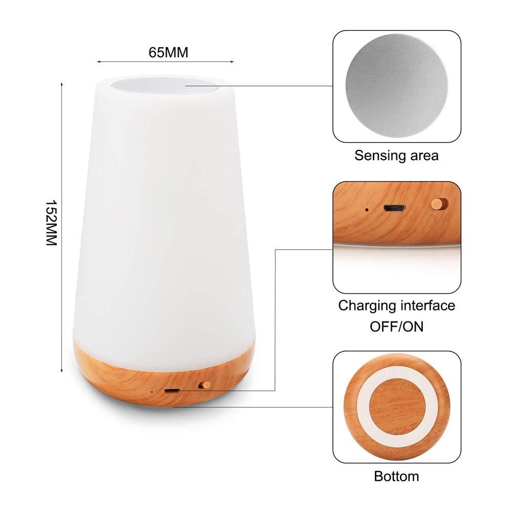 3 types de lumi/ère d/égrad/ée 13 types de changements de lumi/ère 4 types de modes de minutage LED Lampe de chevet Dimmable rechargeable LED,RGB Illumination Mood Night Light avec t/él/écommande