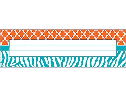 Signature Nameplate (Teacher Created Resources Wild Moroccan Name Plates, Orange and Teal (77114))
