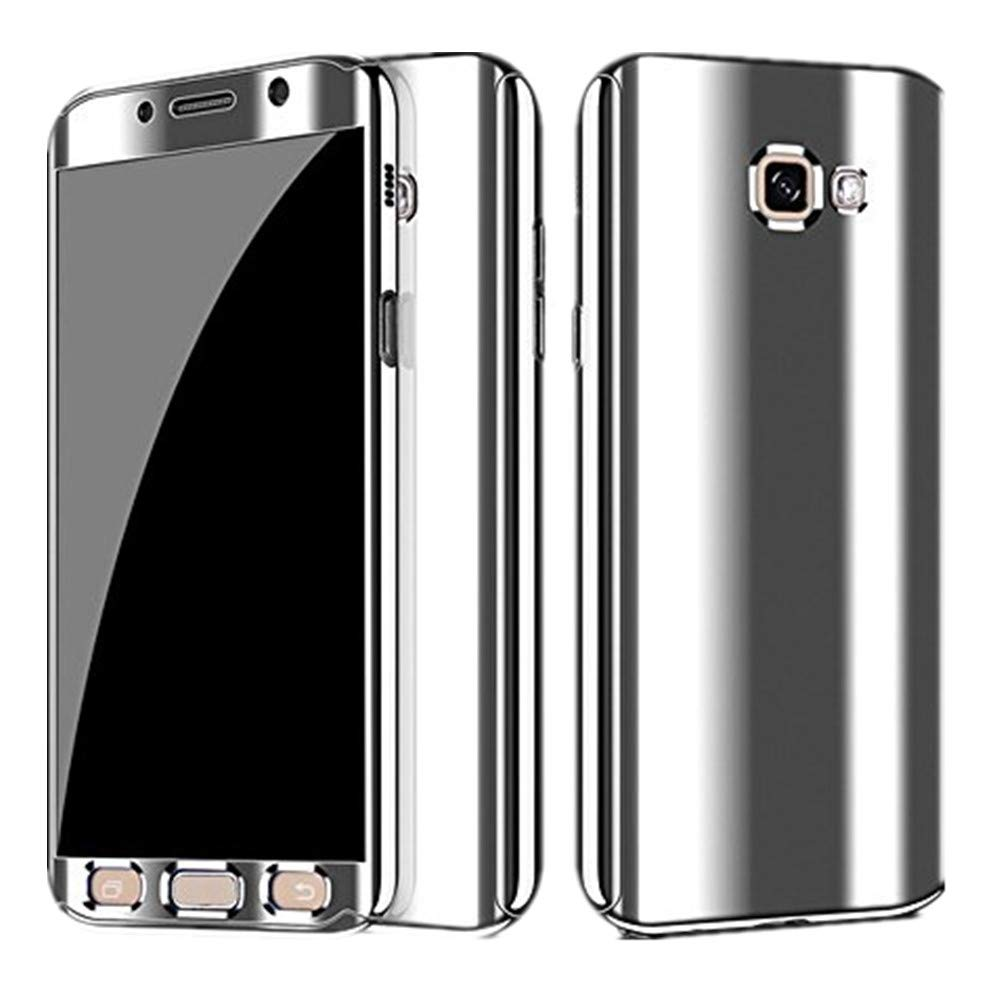Compatible Samsung Galaxy A3 2017 A5 2017 A7 2017 Case,Ultra Thin 3 in 1 Full Body Plating Mirror Case Cover