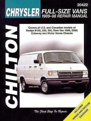 dodge vans 1989 98 chilton total car care series manuals chilton rh amazon com 1999 dodge ram 1500 van owners manual pdf Dodge Ram Wiring Schematics