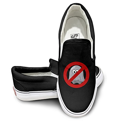 EWIED Unisex Classic Ghostbusters Slip-On Shoes Black Size38 2018
