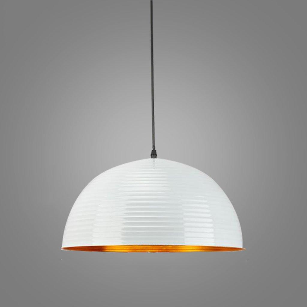 & Innenpendelleuchte Kronleuchter - moderne minimalistischen Kronleuchter Einzelkopf Halbkreis kreative Deckel Kronleuchter (40cm  12cm) Pendelleuchte (Farbe   B-weißes Licht)