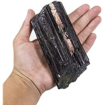 Rock Paradise 1 (ONE) Large Black Tourmaline Rod - Powerful Energy - Over 1/2 lb from Brazil Exclusive COA