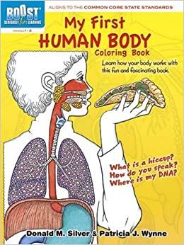 boost my first human body coloring book boost educational series patricia j wynne donald m silver 9780486494104 amazoncom books - Human Body Coloring Book
