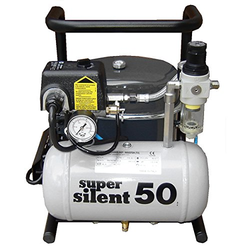 Silentaire Super Silent 50-TC Silent Runnig Airbrush Compressor - Silentaire Airbrush Compressor