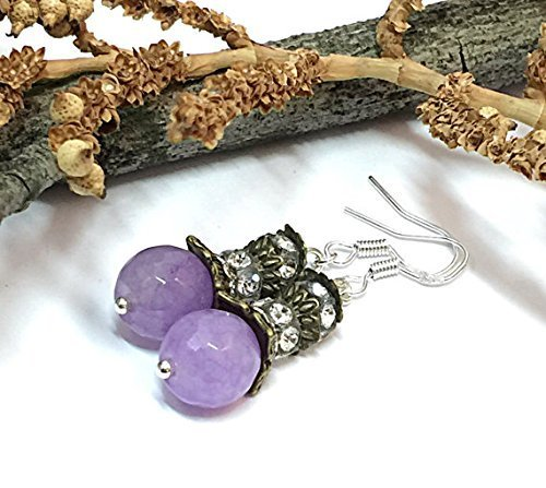 purple rose jade large earrings ops gold products earring carved lavender