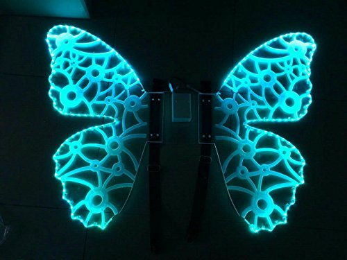[Big LED wings costume Colorful Angle wings Stage Event Disco dance] (Canada Dance Costumes)