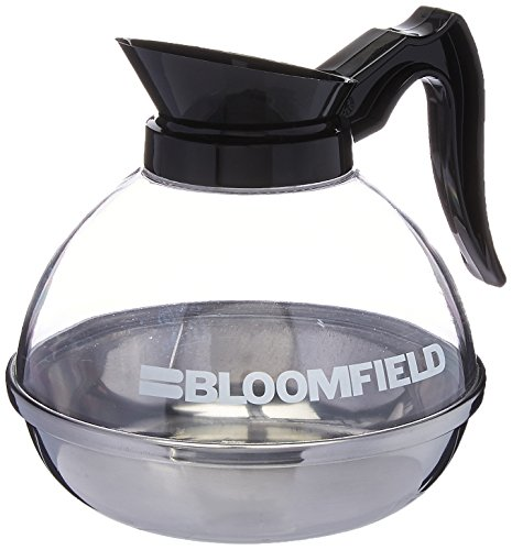 Bloomfield REG10114BLI Unbreakable Decanter, Plastic with Stainless Steel Bottom, Black Handle ()