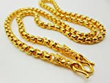 Chain 22k 23k 24k Thai Baht Yellow Gold GP Necklace 18 inch 3.5 MM