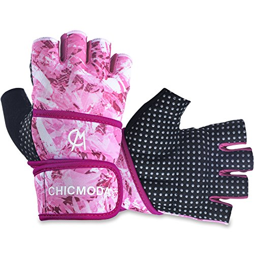 CHICMODA Women's Men's Weight Lifting Gym Gloves With 18