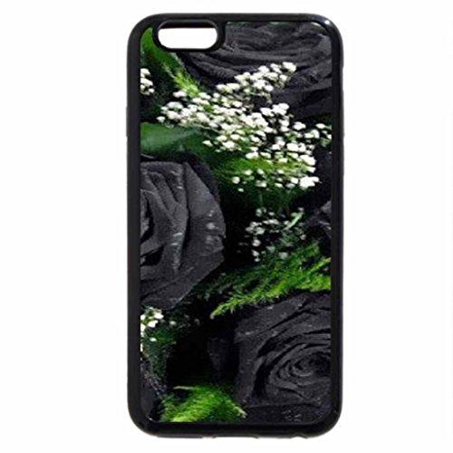 iPhone 6S Case, iPhone 6 Case (Black & White) - Beautiful Black Roses