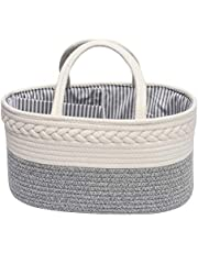 Baby Nappy Caddy Organiser with 3-Compartments, Multifunctional Nappy Diaper Caddy Storage Nursery Bin Basket, Portable Nappy Bags
