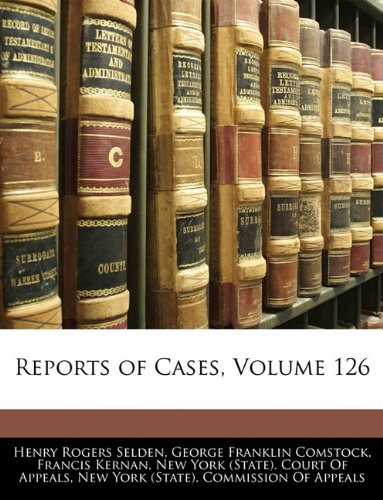 Read Online Reports of Cases, Volume 126 pdf epub