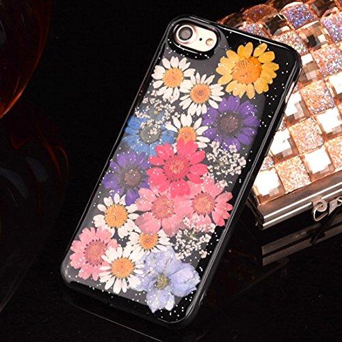 MXNET IPhone 7 Plus Fall, gepresste reale getrocknete Blume weiche TPU schützende Fall-rückseitige Abdeckung CASE FÜR IPHONE 7 PLUS ( SKU : Ip7p2295k )